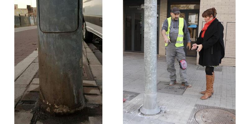 Desde la Concejalía de Salud Pública de Castellón, se ultimará en los próximos días una nueva acción que tiene por objeto minimizar los daños de oxidación que provocan los orines de los perros en las farolas